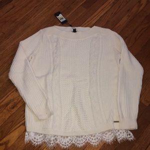 Tommy Hilfiger Lace Hem Sweater
